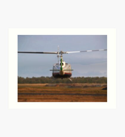 Huey Helicopter Departing Art Print