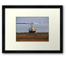 Huey Helicopter Departing Framed Print