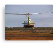 Huey Helicopter Departing Canvas Print