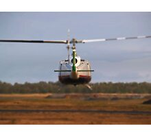 Huey Helicopter Departing Photographic Print