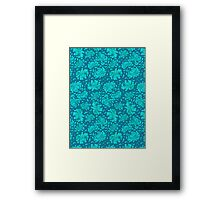 Korean Chrysanthemum - Turquoise Framed Print