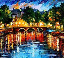 AMSTERDAM - THE RELEASE OF HAPPINESS - OIL PAINTING BY LEONID AFREMOV by Leonid  Afremov