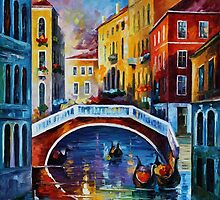 VENICE MORNIG - OIL PAINTING BY LEONID AFREMOV by Leonid  Afremov