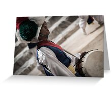 Traditional Drummer Greeting Card