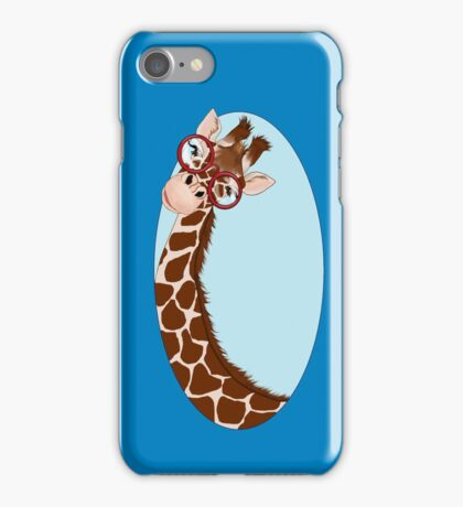 Giraffe Here's Looking At You iPhone Case/Skin