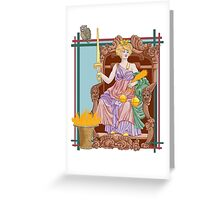 Tarot Justice Greeting Card