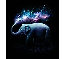 Elephant Splash Photographic Print