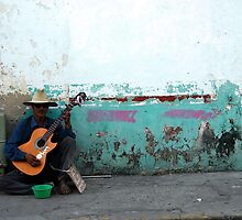 Busker - Late Afternoon - Puerto Vallarta by Heather  Hess