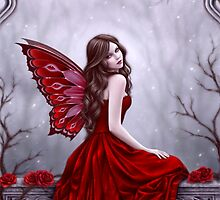 Winter Rose Butterfly Fairy by Rachel Anderson