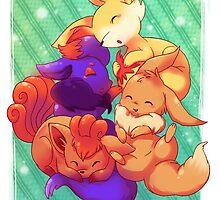 Fox pokemon phone case  by michelledraws