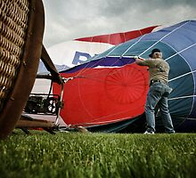 A dude and his balloon by Jesse J. McClear