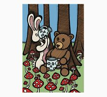 Teddy Bear and Bunny - The Mushroom Forest Unisex T-Shirt