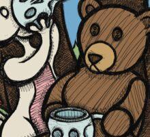 Teddy Bear and Bunny - The Mushroom Forest Sticker