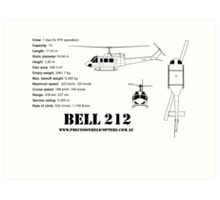 Bell 212 Twin Huey Helicopter Art Print