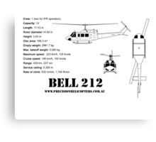 Bell 212 Twin Huey Helicopter Canvas Print