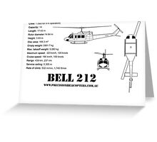 Bell 212 Twin Huey Helicopter Greeting Card