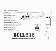Bell 212 Twin Huey Helicopter Baby Tee