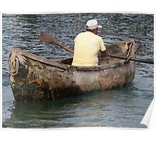Old Boat - Lancha Vieja Poster