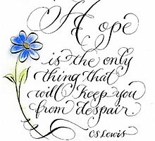 Inspirational CS Lewis Hope quote by Melissa Goza