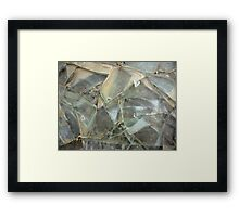 broken mirror and glass Framed Print