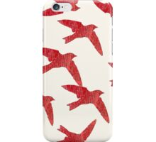 Red Swallows iPhone Case/Skin