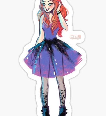 Batgirl Fashion Sticker