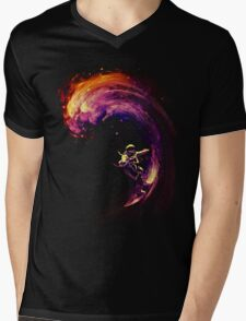 Space Surfing Mens V-Neck T-Shirt