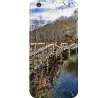 Troubled Bridge Over Still Waters iPhone Case/Skin