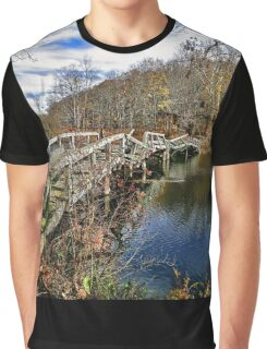 Troubled Bridge Over Still Waters Graphic T-Shirt