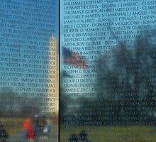 Unforgotten Memories- Vietnam Wall Memorial by Brad Leese