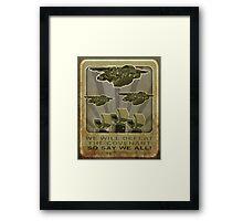 Halo Propaganda  Framed Print
