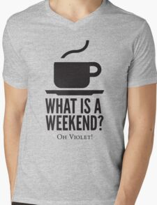 Weekend in Downton Abbey Mens V-Neck T-Shirt
