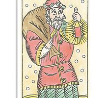 Father Christmas (Tarot Card 25) by DBLthreatMAGEE