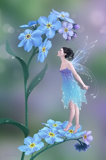 Forget-Me-Not Flower Fairy by Rachel Anderson