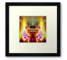 Self Portrait Series: No.5 Egg on Fire Framed Print