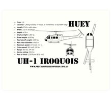 """Iroquois """"Huey"""" Helicopter Art Print"""