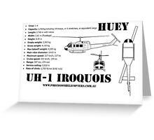 """Iroquois """"Huey"""" Helicopter Greeting Card"""
