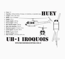 """Iroquois """"Huey"""" Helicopter One Piece - Short Sleeve"""