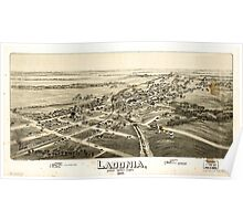 Panoramic Maps Ladonia Fannin County Texas Poster