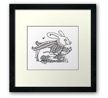 The White Rabbit Rush  Framed Print