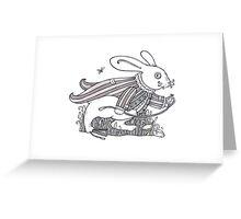 The White Rabbit Rush  Greeting Card