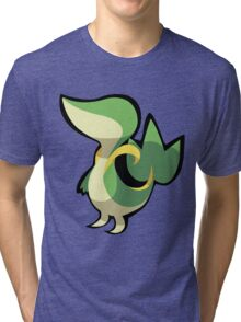 Snivy Stylized Vector Tri-blend T-Shirt