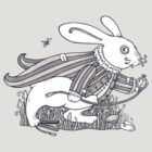 The White Rabbit Rush (T-shirt) by Anita Inverarity