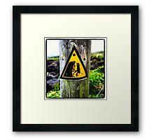 Cliff Diving Framed Print