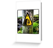 Cliff Diving Greeting Card