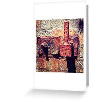 Rusty Door Hinge Greeting Card