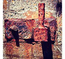 Rusty Door Hinge Photographic Print