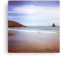 Broadhaven beach Canvas Print