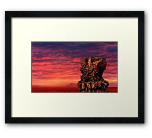 Pele's Chair At Sunset Framed Print