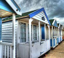 Beach Huts by Kim Slater